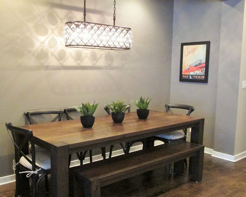 Small modern dining room design ideas remodels photos for Small dining room ideas houzz