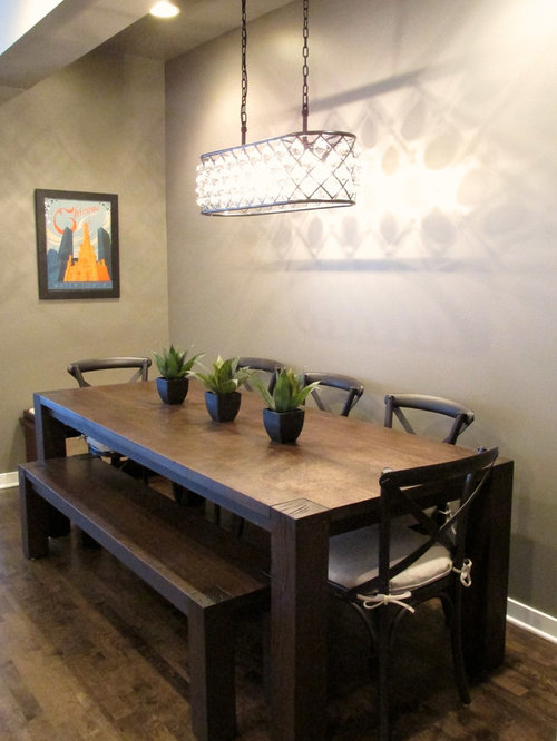 Small modern dining room design ideas remodels photos for Small modern dining room