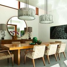 Contemporary Dining Room by Stephanie Wohlner Design