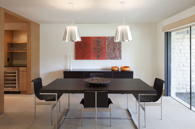 modern dining room by Webber + Studio, Architects