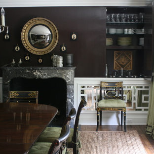 Chocolate Lacquer walls with Mirrored Chinese fretwork