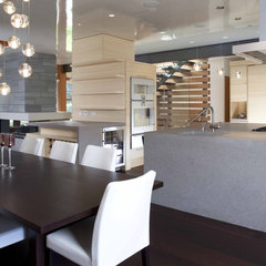 contemporary dining room by Kevin Vallely Design