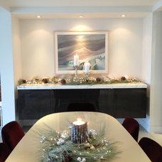 Modern Dining Room by Janis Gosbee Design Inc.