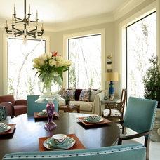 Eclectic Dining Room by Dillard Pierce Design Associates