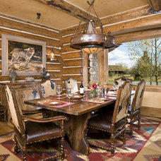 Rustic Dining Room by B&B Builders