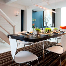 Contemporary Dining Room by Tony Cappoli Interiors