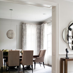 contemporary dining room by Jennifer Worts Design