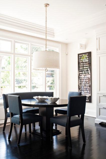 Transitional Dining Room by Jennifer Worts Design Inc.