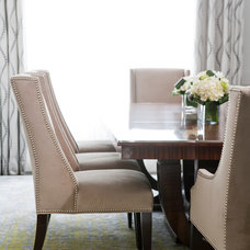Transitional Dining Room by Jennifer Worts Design Inc.