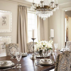 Transitional Dining Room by Linda McDougald Design | Postcard from Paris Home