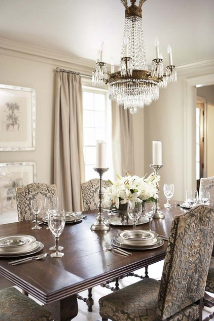 Transitional Dining Room by Linda McDougald Design   Postcard from Paris Home