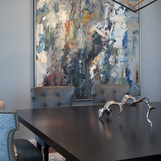 Contemporary Dining Room by Kendall Wilkinson Design