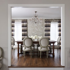 Traditional Dining Room by kim scodro interiors