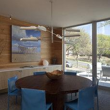 Contemporary Dining Room by Dick Clark + Associates