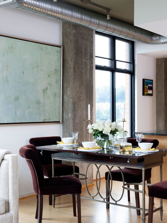 industrial dining room design ideas, remodels & photos