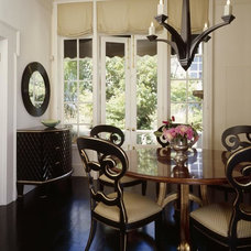 Eclectic Dining Room by Jerry Jacobs Design, Inc.