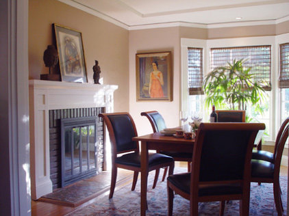 Eclectic Dining Room by kathleen monroe design