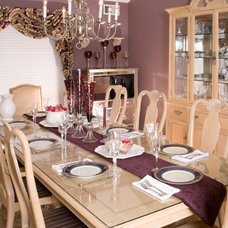 Traditional Dining Room by DW Design & Decor LLC