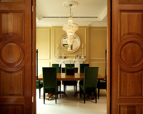 Green Velvet Dining Chairs | Houzz