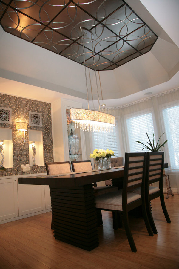 "Classy Traditional Dining Room With a flair of ""Bling"""