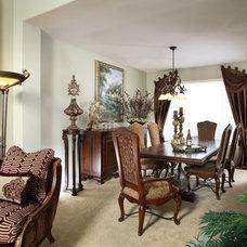 Mediterranean Dining Room by J. Hettinger Interiors