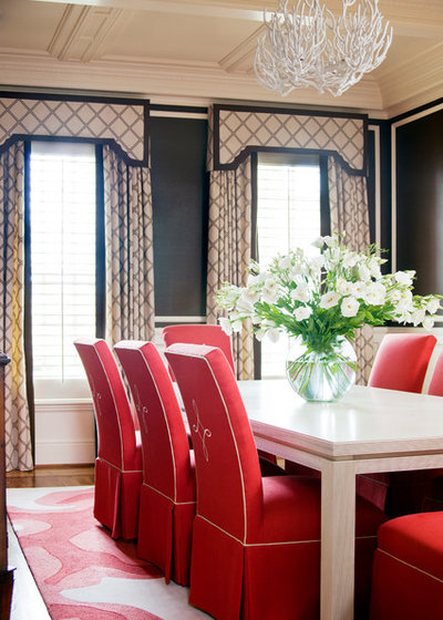 American Traditional Dining Room by Tobi Fairley Interior Design
