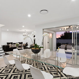 This is an example of a contemporary dining room in Gold Coast - Tweed.