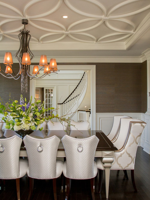 Formal dining room ceilings houzz for B q dining room ideas