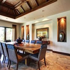 Tropical Dining Room by Don Stevenson Design