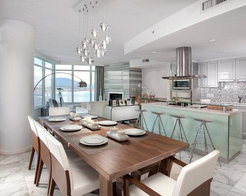 Glass Kitchen Island   Houzz