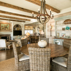 beach style dining room by Dempsey Hodges Construction