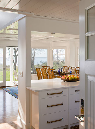 Beach Style Dining Room by Michael McKinley and Associates, LLC