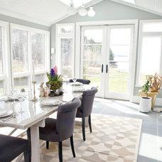 Beach Style Dining Room by Celia Bedilia