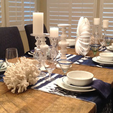 Beach Style Dining Room by Barbara Page Interiors