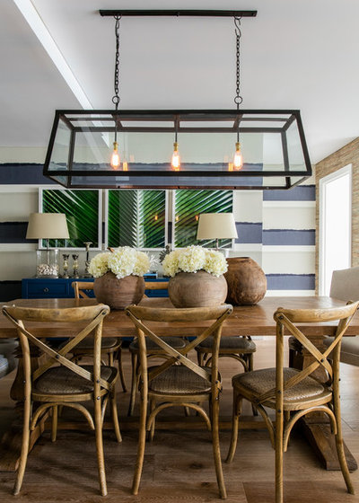 Beach Style Dining Room by Adam Scougall Design