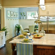 Beach Style Dining Room by Jane Roseborough Interiors