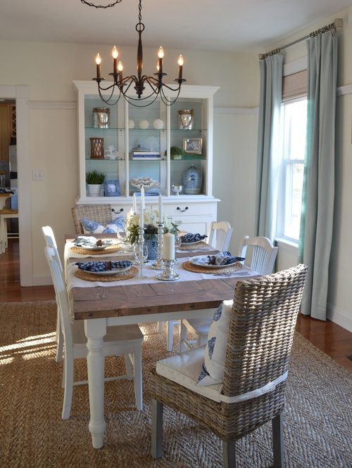 coastal dining room houzz. Black Bedroom Furniture Sets. Home Design Ideas