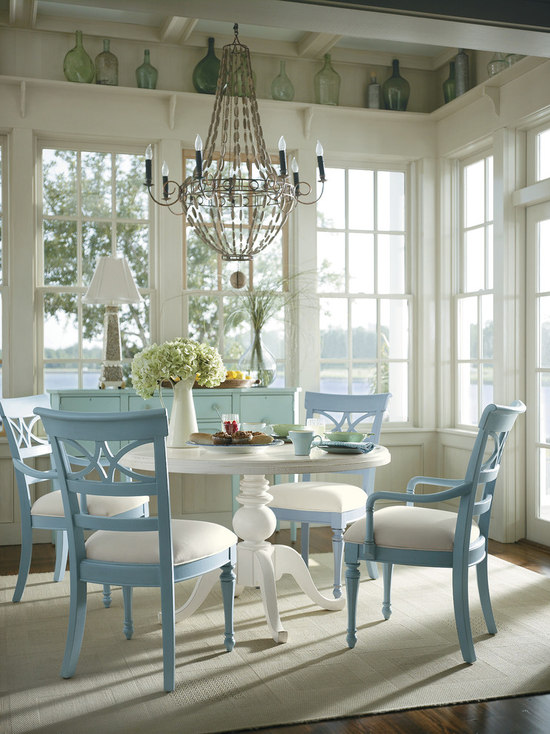 french blue dining room design ideas, remodels & photos