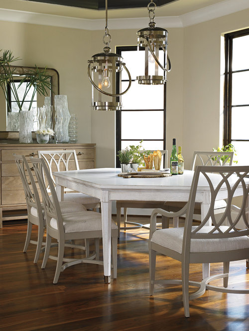 Charming Traditional Dark Wood Floor Dining Room Idea In Miami With Beige Walls Part 5