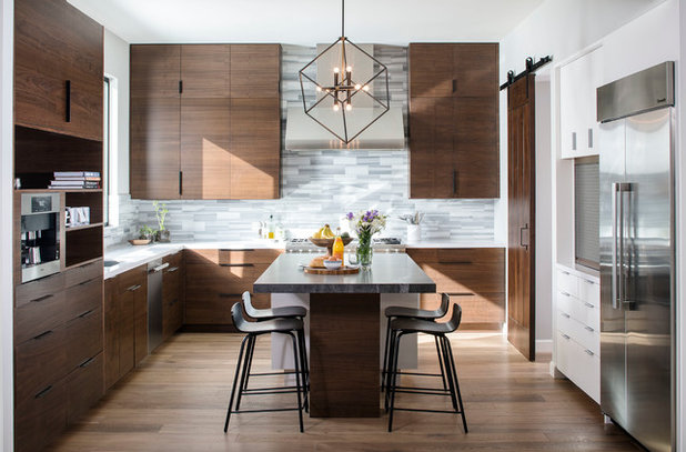 Contemporary Dining Room by KW Designs