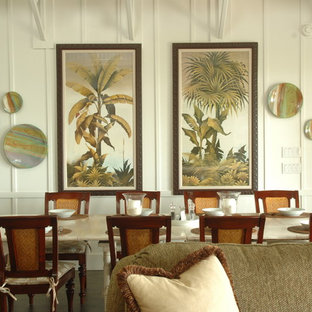 Inspiration for a tropical dining room in Miami.