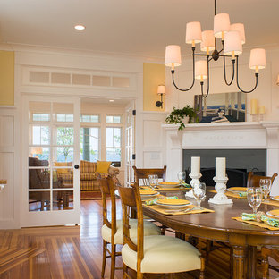 75 Most Popular Dining Room With A Corner Fireplace Design Ideas For