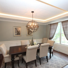 Transitional Dining Room by Costa Homebuilders