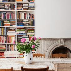 Transitional Dining Room by Bonaventura Architect