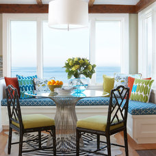 beach style dining room by Rachel Reider Interiors