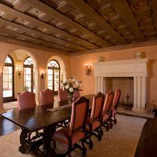 Mediterranean Dining Room by DD Ford Construction
