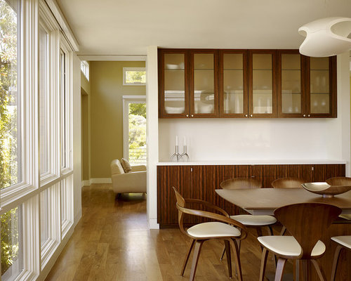 Crockery unit houzz for Dining room cupboard designs