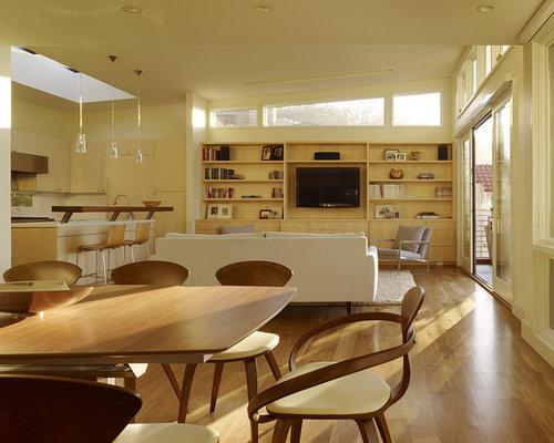 Foton och inspiration för moderna gula matplatser med öppen ...
