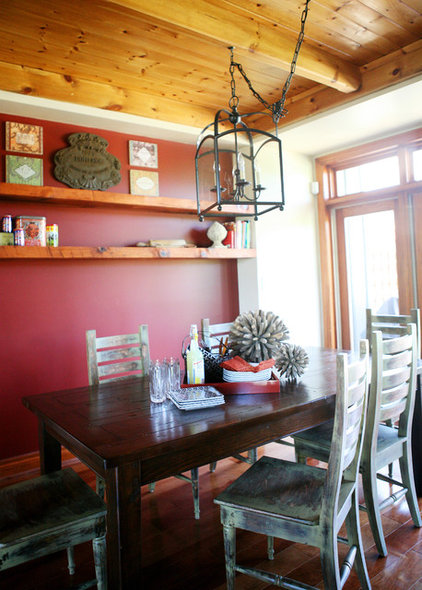 Rustic Dining Room by Pure Bliss Creative Design