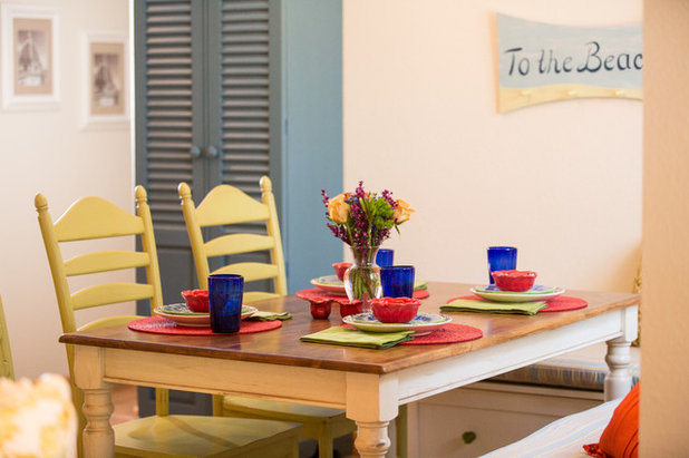 Coastal Dining Room by Welcome Home Design Group